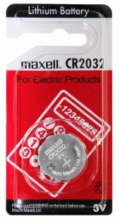 PILA BOTTONE CR2032 3V LITIO MAXELL (#165 COD.2520327)