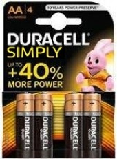 4 STILO 1500 DURACELL ALCALINE 1,5V SIMPLY (#7A) *MINIMO 10BLISTER *IN RIASSORTIMENTO