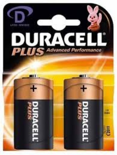 2 PILE TORCIA D MN1300 DURACELL ALCALINA 1,5V (#5)