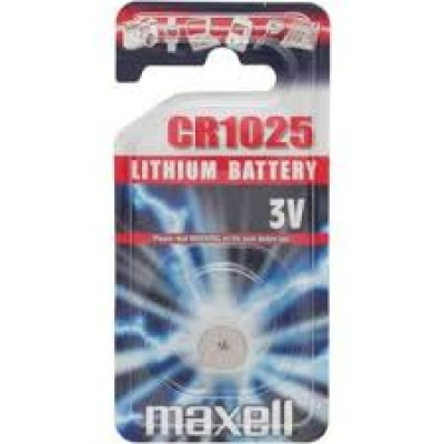 pila CR 1025 litio 3V  Maxell 3V (#88 cod.251025)