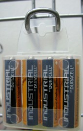 4 PILE STILO AA DURACELL MN1500 INDUSTRIAL Alcaline - BLISTER PACK (#1 cod.1168P) *MINIMO 96BLISTER